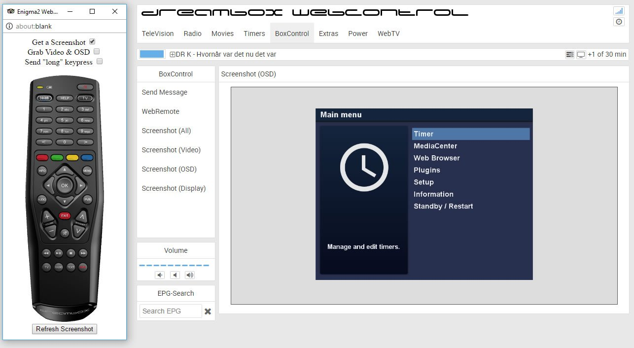 Dreambox webinterface