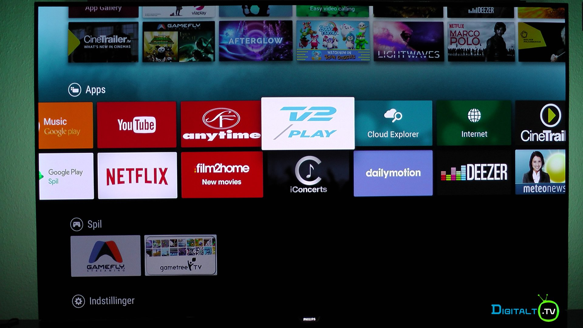 Philips 55POS901F Smart TV apps
