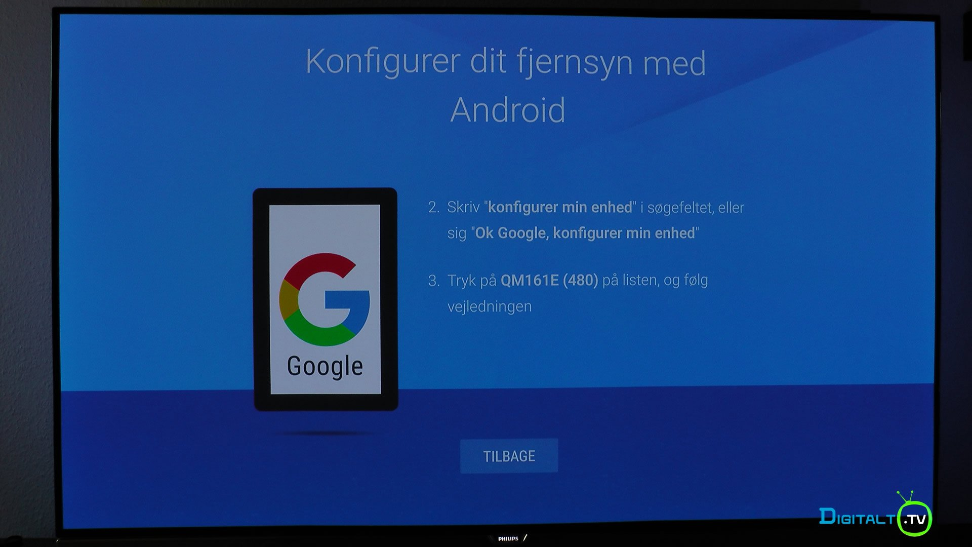 Philips 55POS901F installation Android konfig