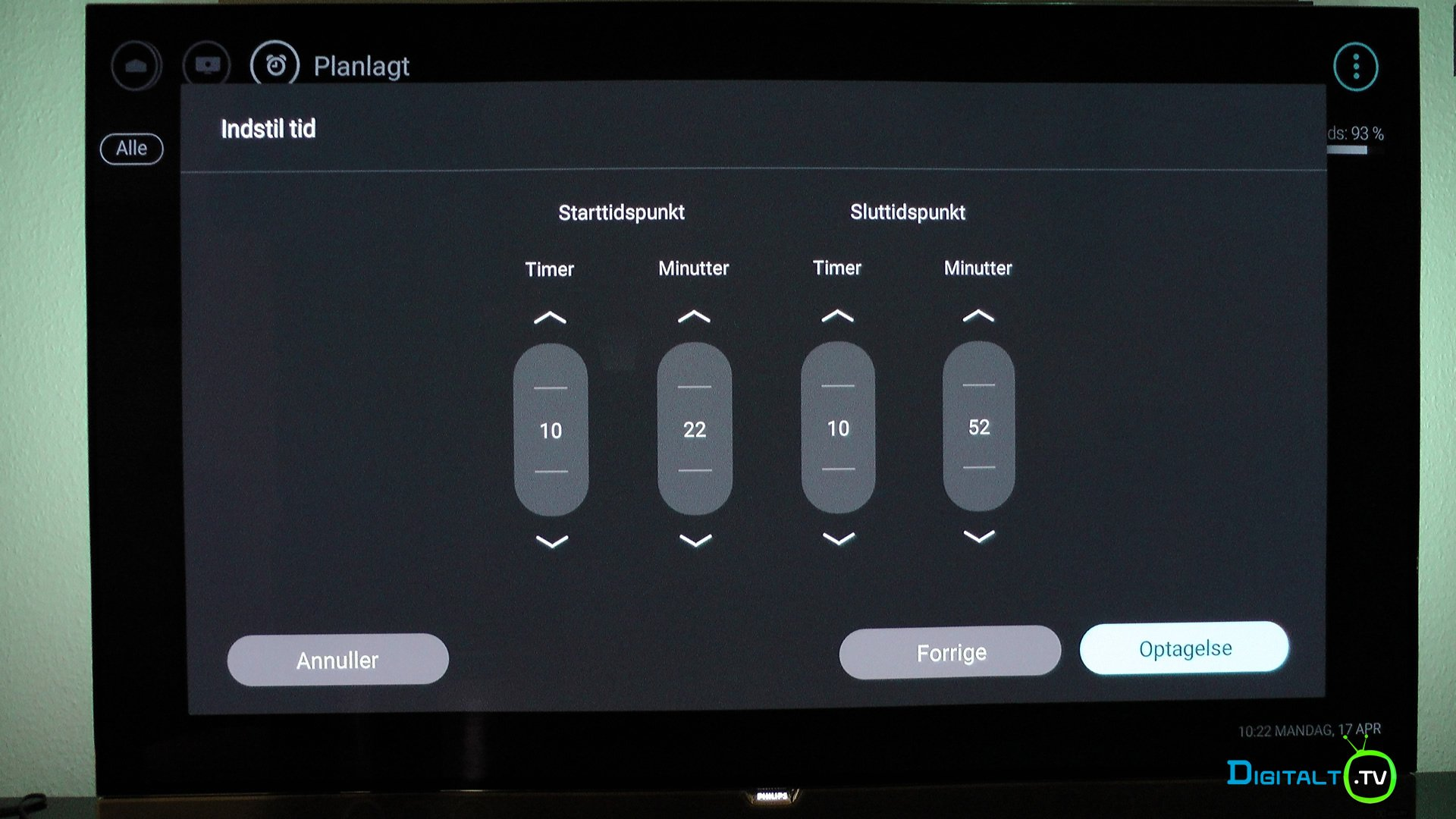 Philips 55POS901F pvr timer