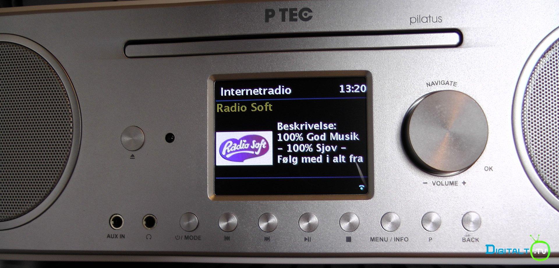 Pilatus Internetradio display