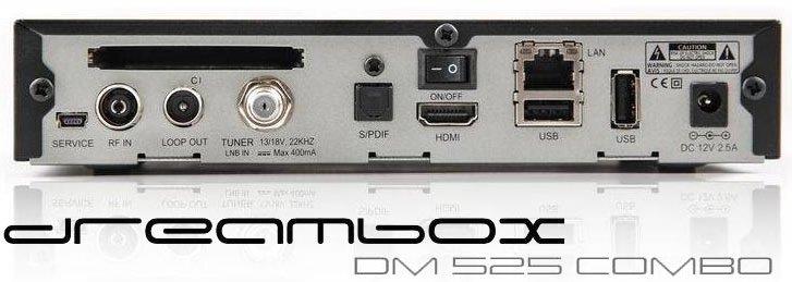DM 525 combo bagside