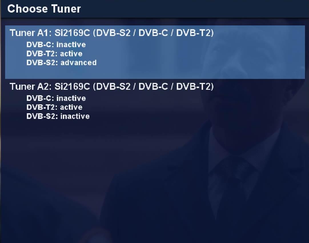 Dreambox Triple tuner screenshot