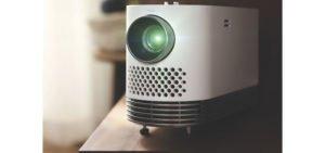 Foto af LG laser projektor med indbygget WebOS