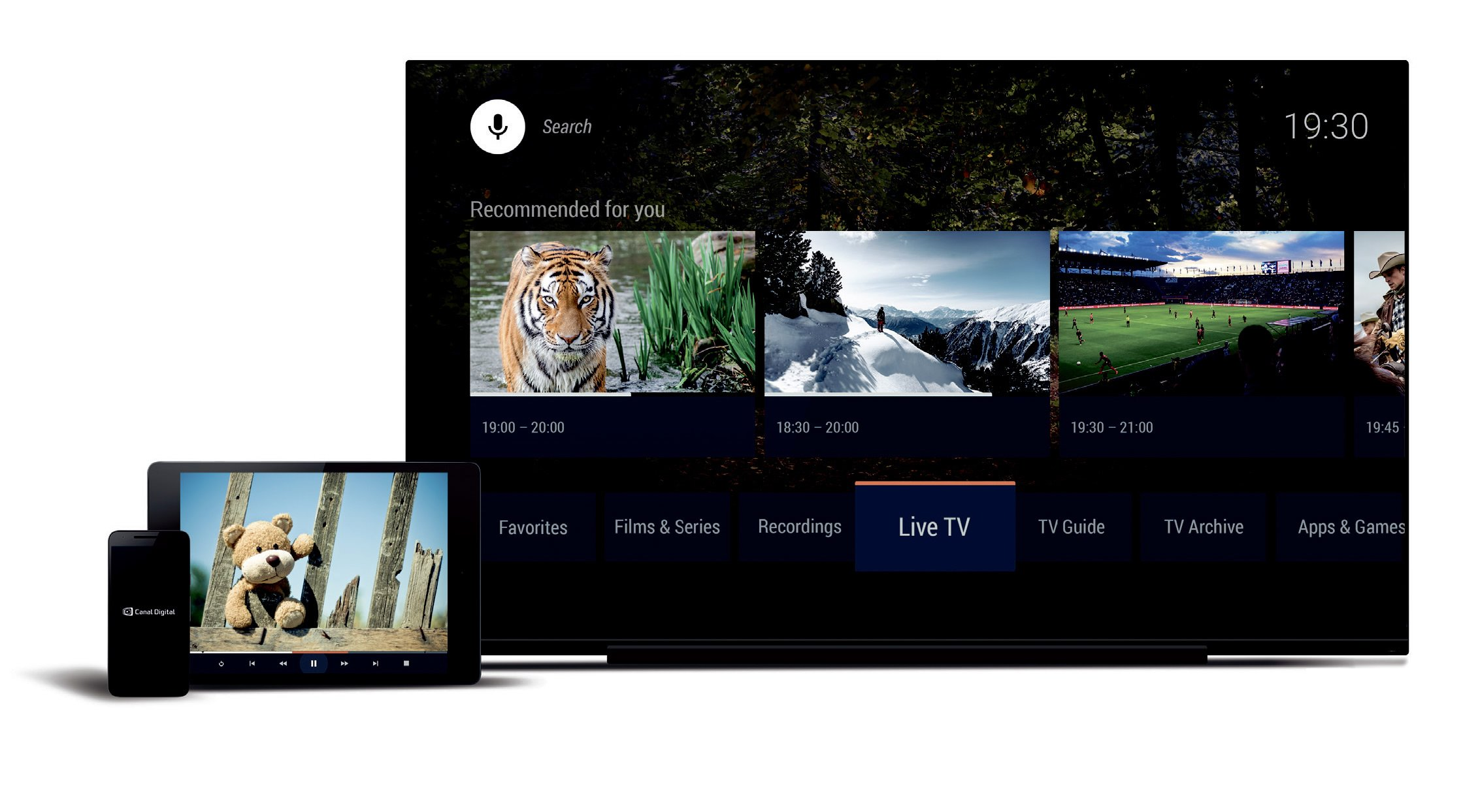 Canal Digital Android TV UI