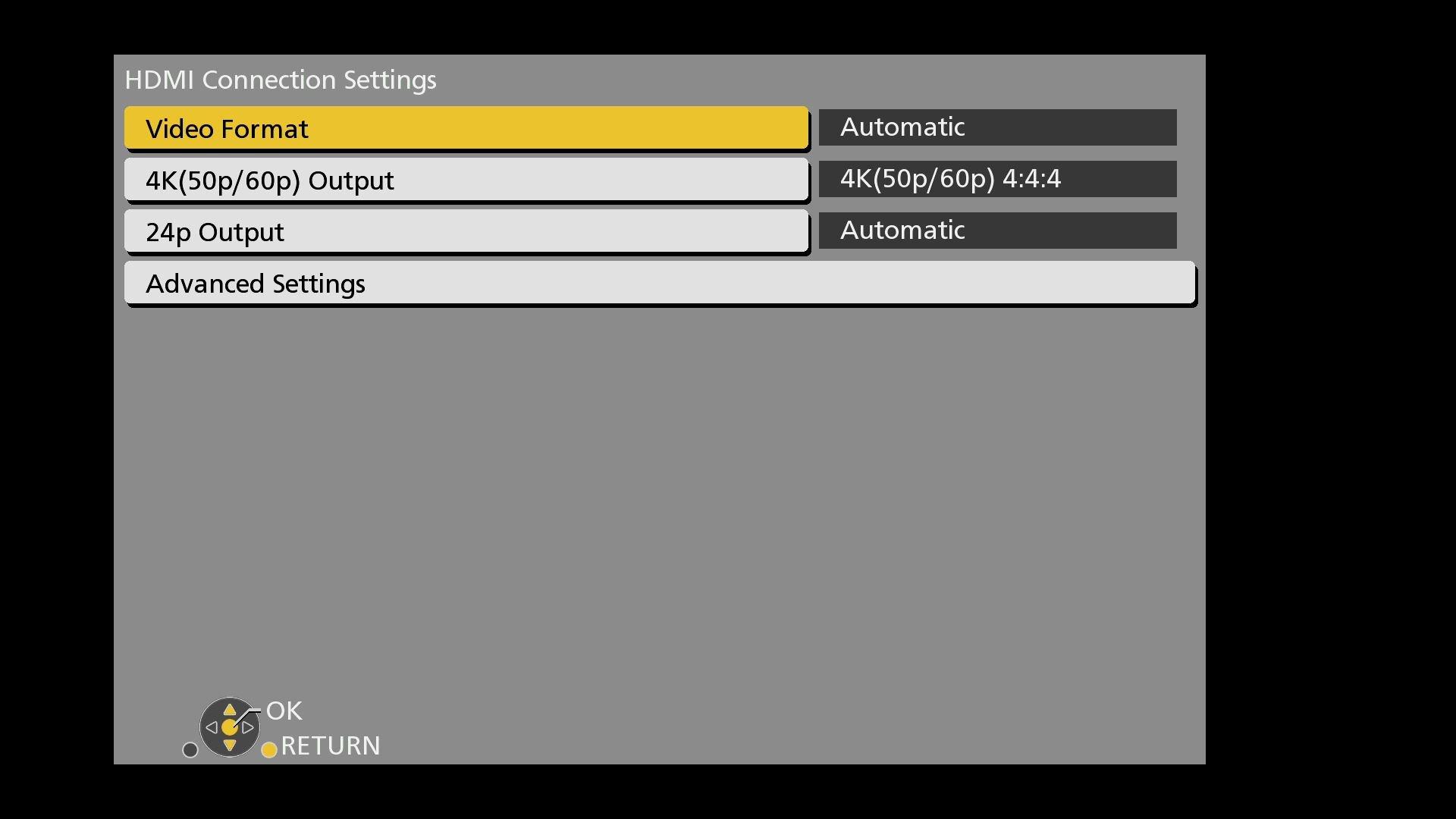 Panasonic DMR UBC86 Settings HDMI Connection