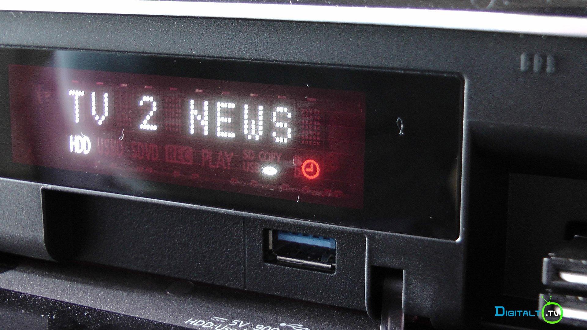 Panasonic DMR UBC86 front open