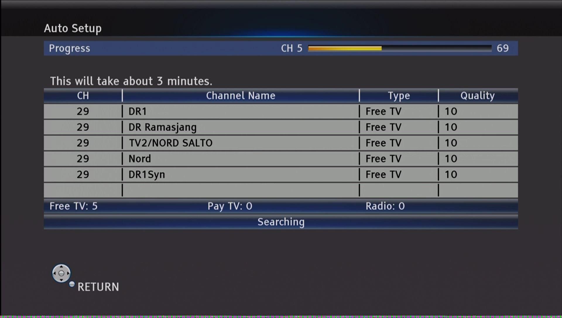 Panasonic DMR UBC86 indstillinger kanalsogning