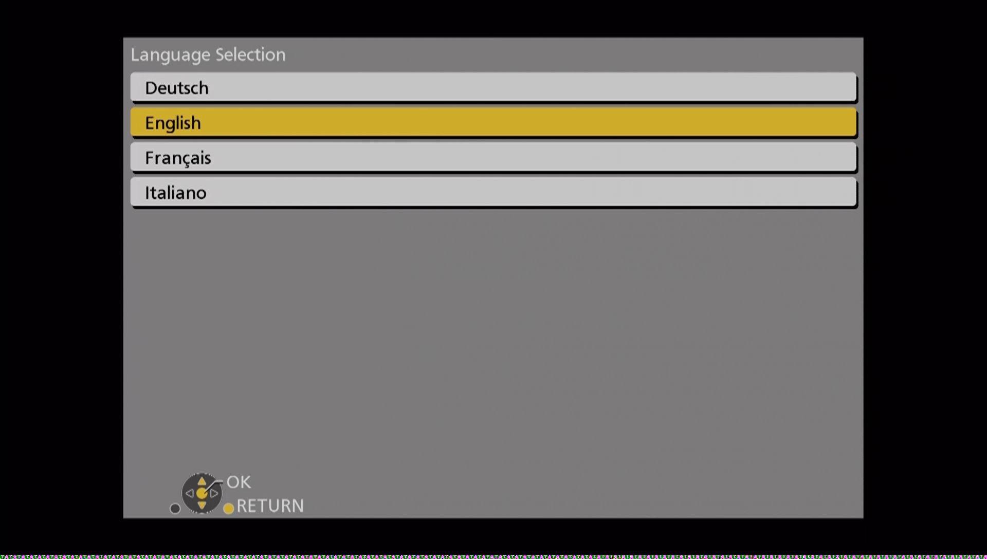 Panasonic DMR UBC86 indstillinger sprog