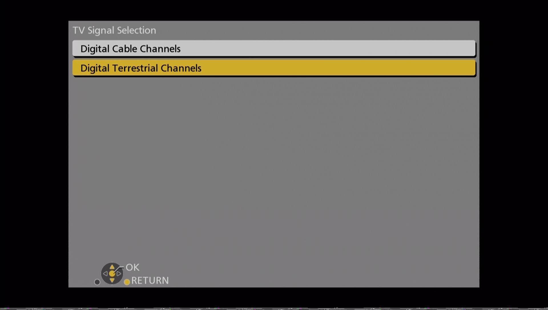 Panasonic DMR UBC86 indstillinger tv signal