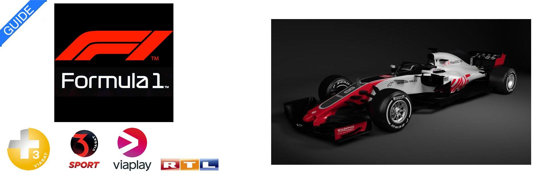 Formel 1 TV Oversigt Streaming 2018