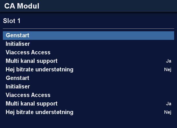 CA modul indstillinger DM920