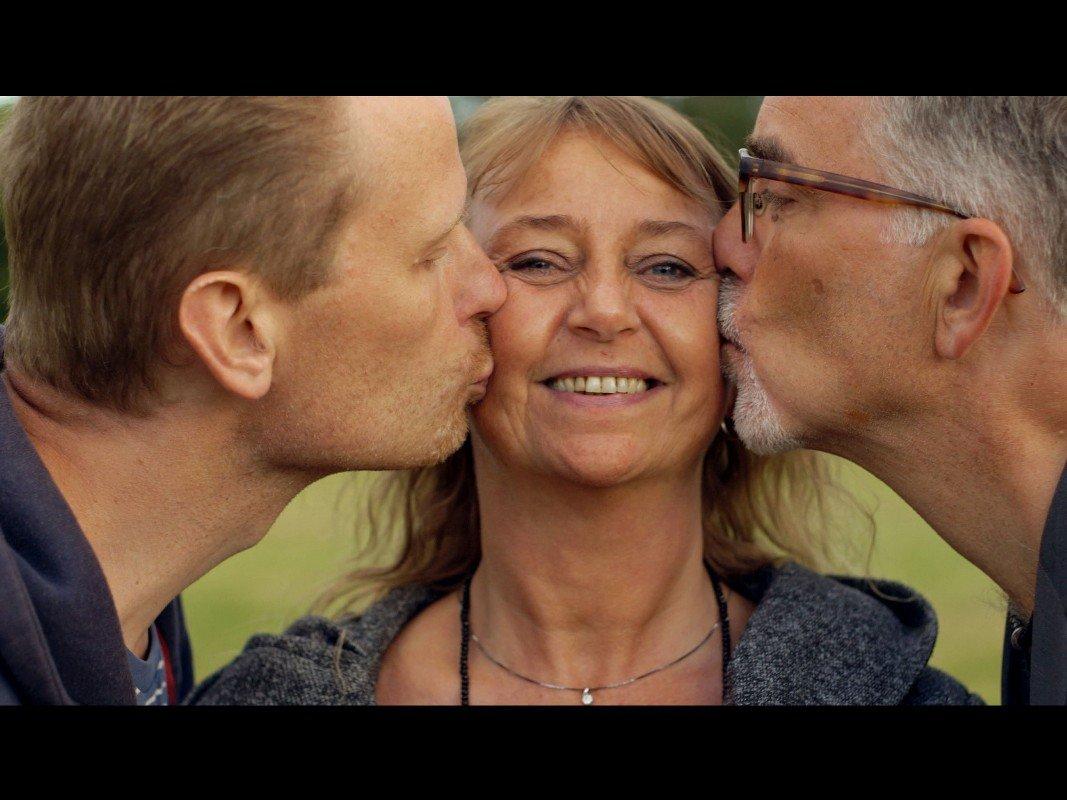 Jan, Lykke og Carsten i 'Lykken er flere kærester'.