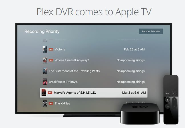 Plex TV DVR apple tv