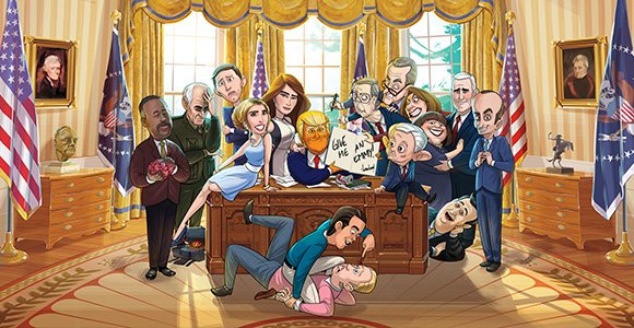 our cartoon president HBO Nordic