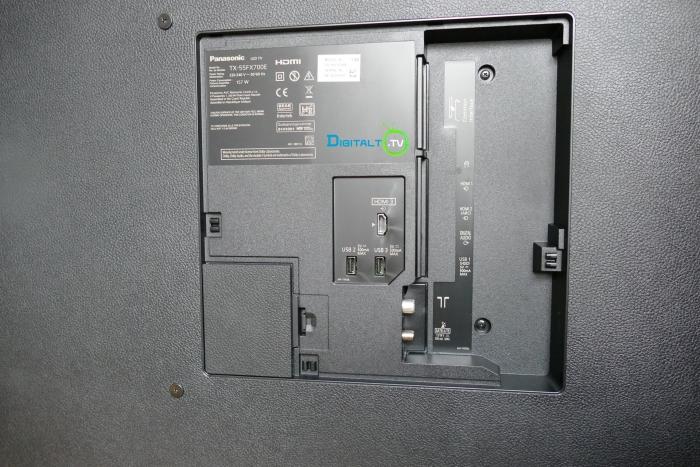 Panasonic FX700 tilslutninger bag