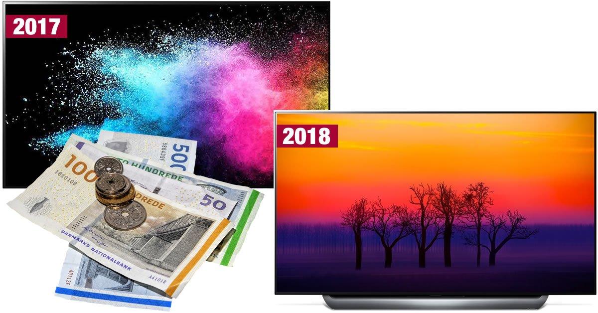 Prisforskel 2018 2017 TV
