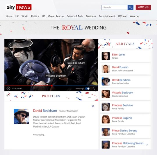 Sky News Royal Wedding desktop