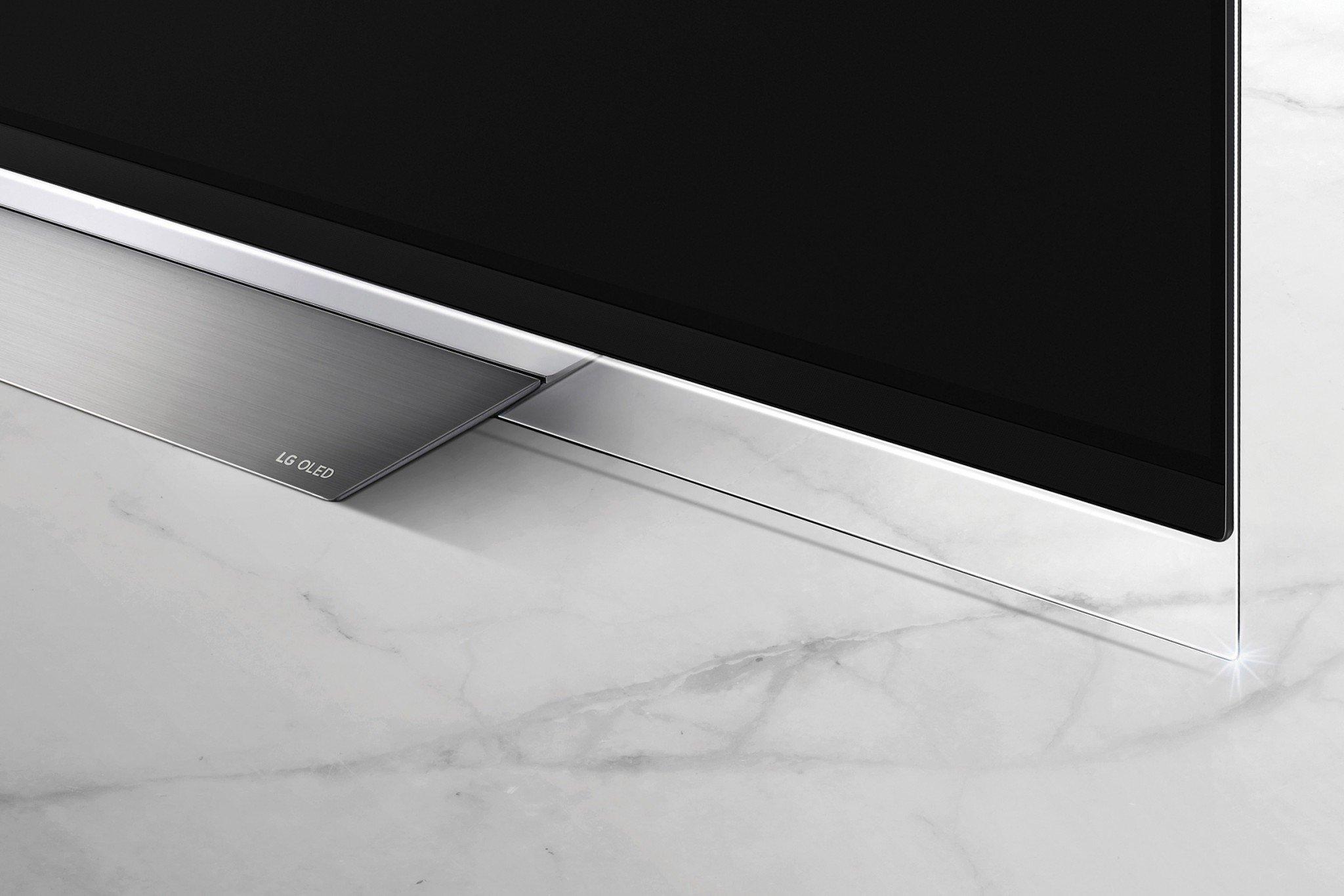 LG E8 OLED fod glas design