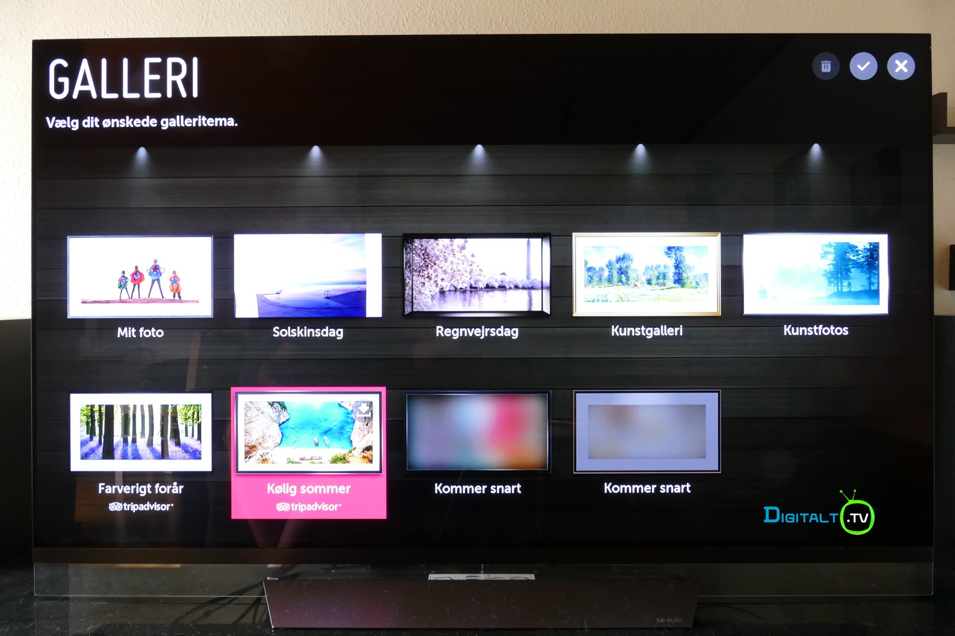 LG E8 OLED galleri menu