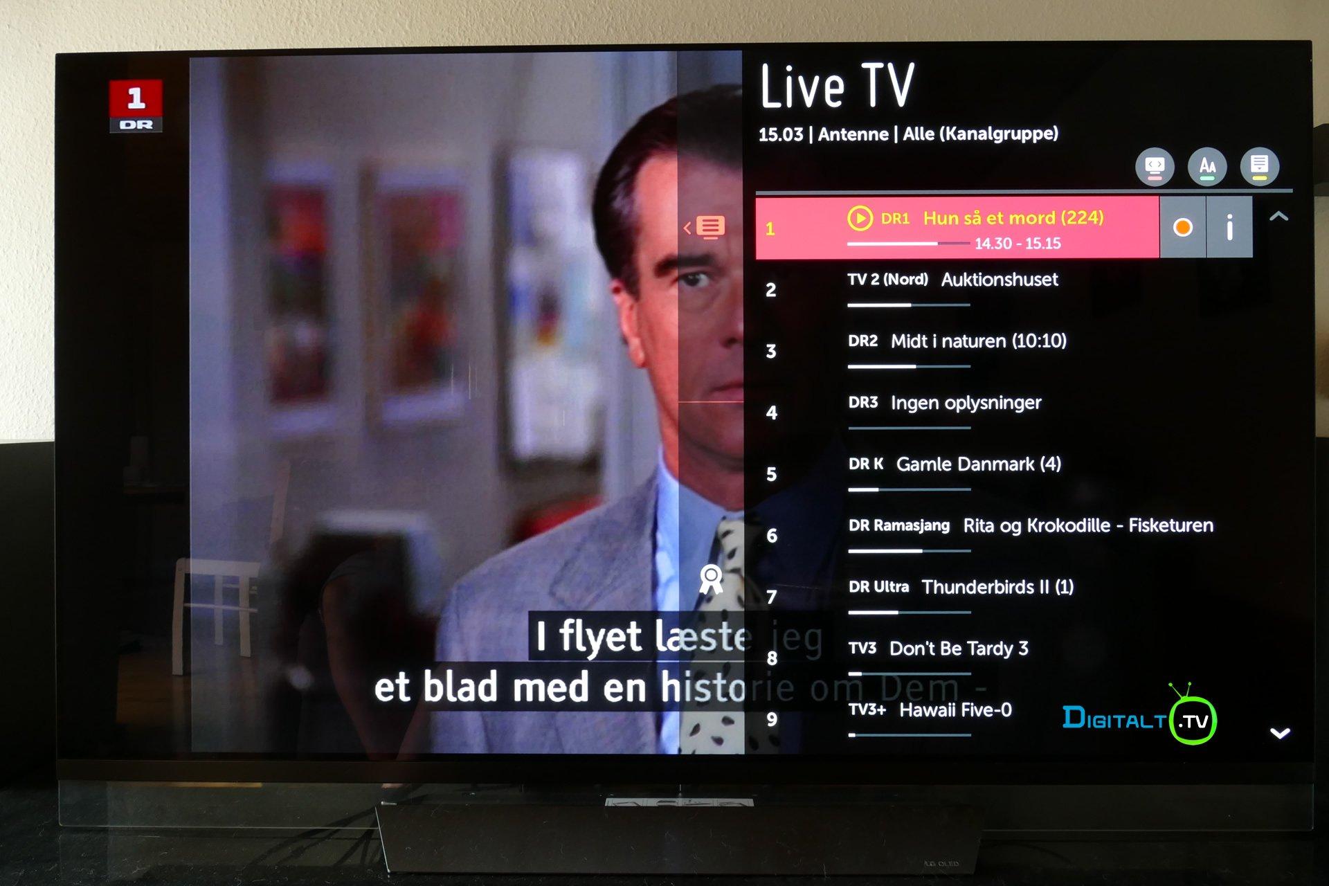LG E8 OLED rec menu