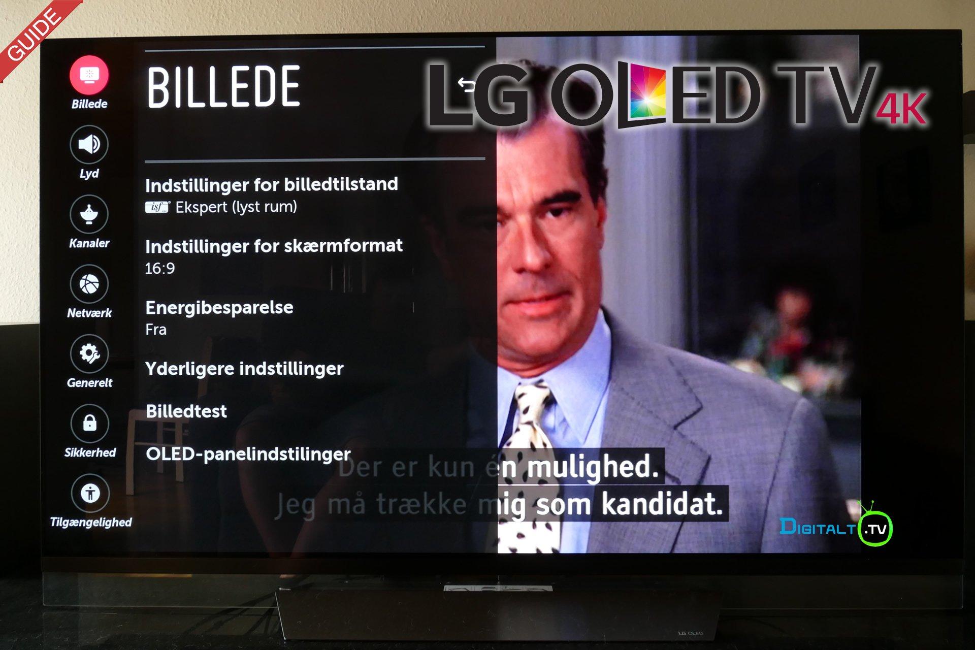 LG OLED TV indstillinger guide
