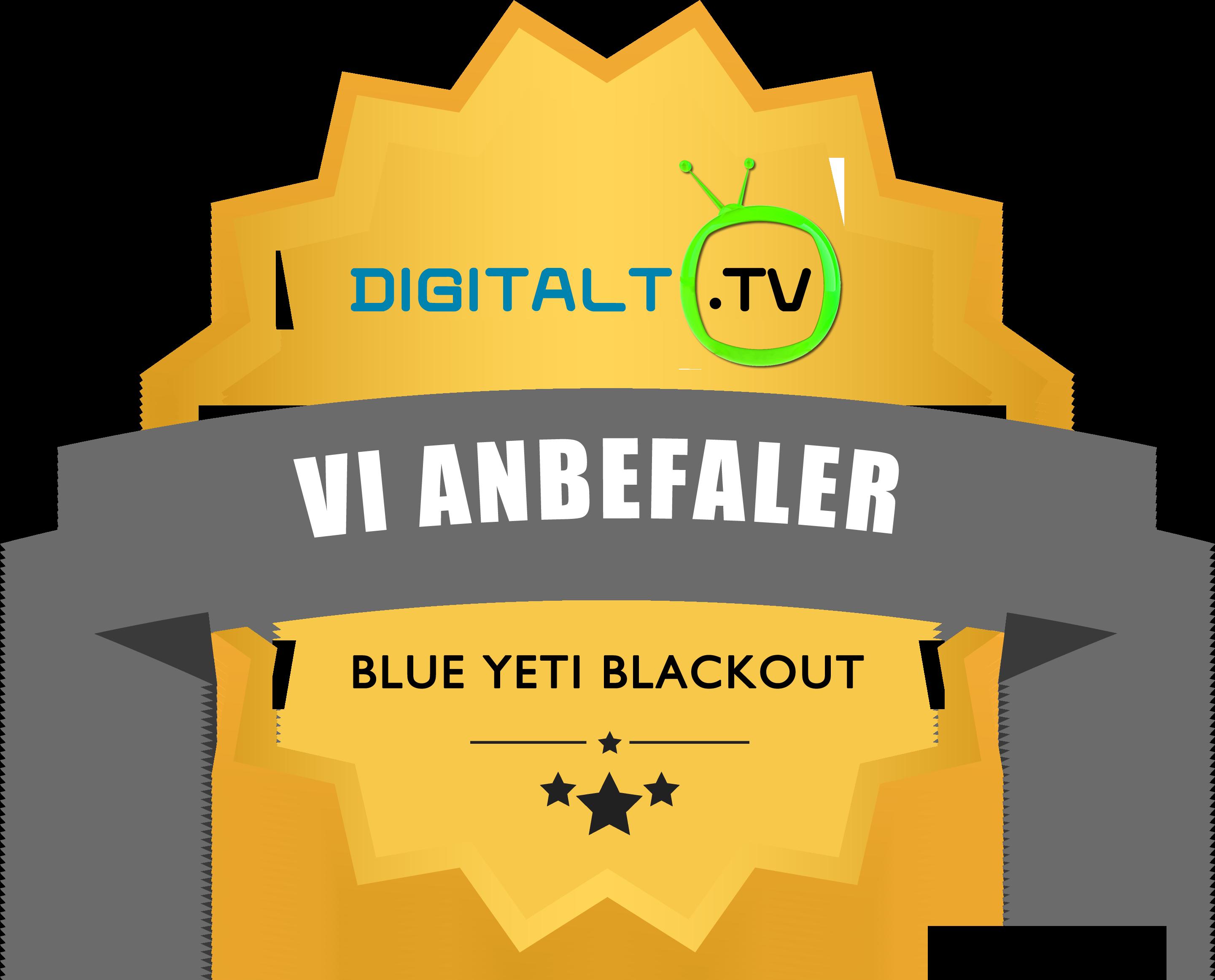 Logo blue yeti anbefaler