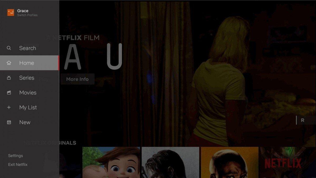 Netflix TV brugeroverflade 2018