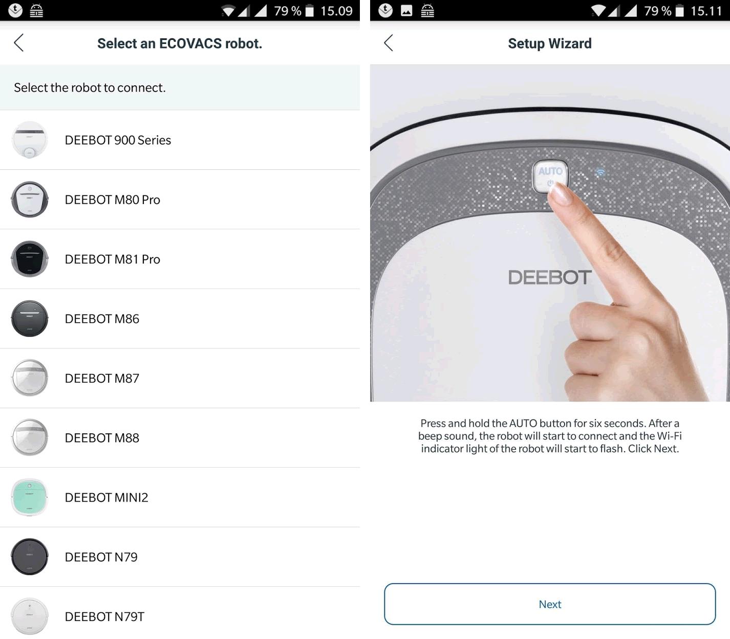 Ecovacs Deebot Slim 2 app setup