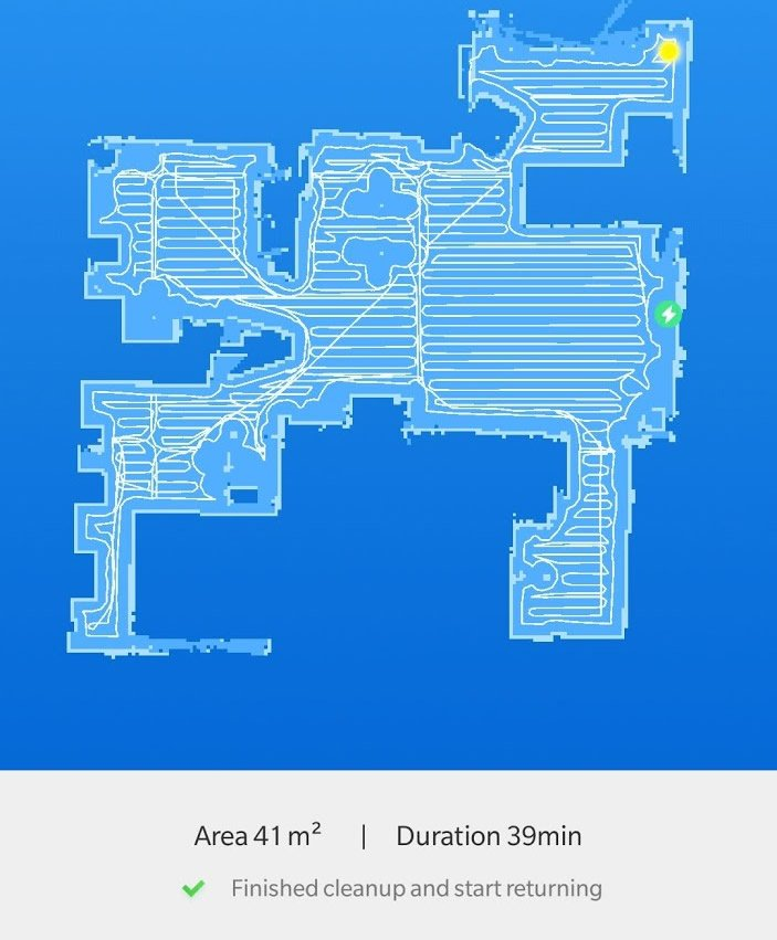 Xiaomi Roborock S50 app map