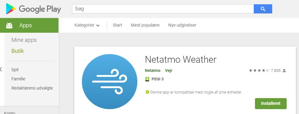 netatmo app install