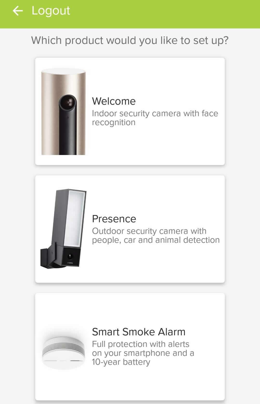 Netatmo Smart Smoke Alarm app install 1