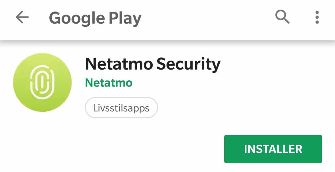 Netatmo Smart Smoke Alarm app install