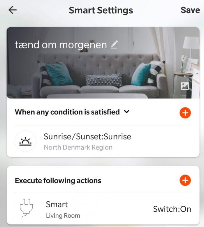 Smart Life app scene