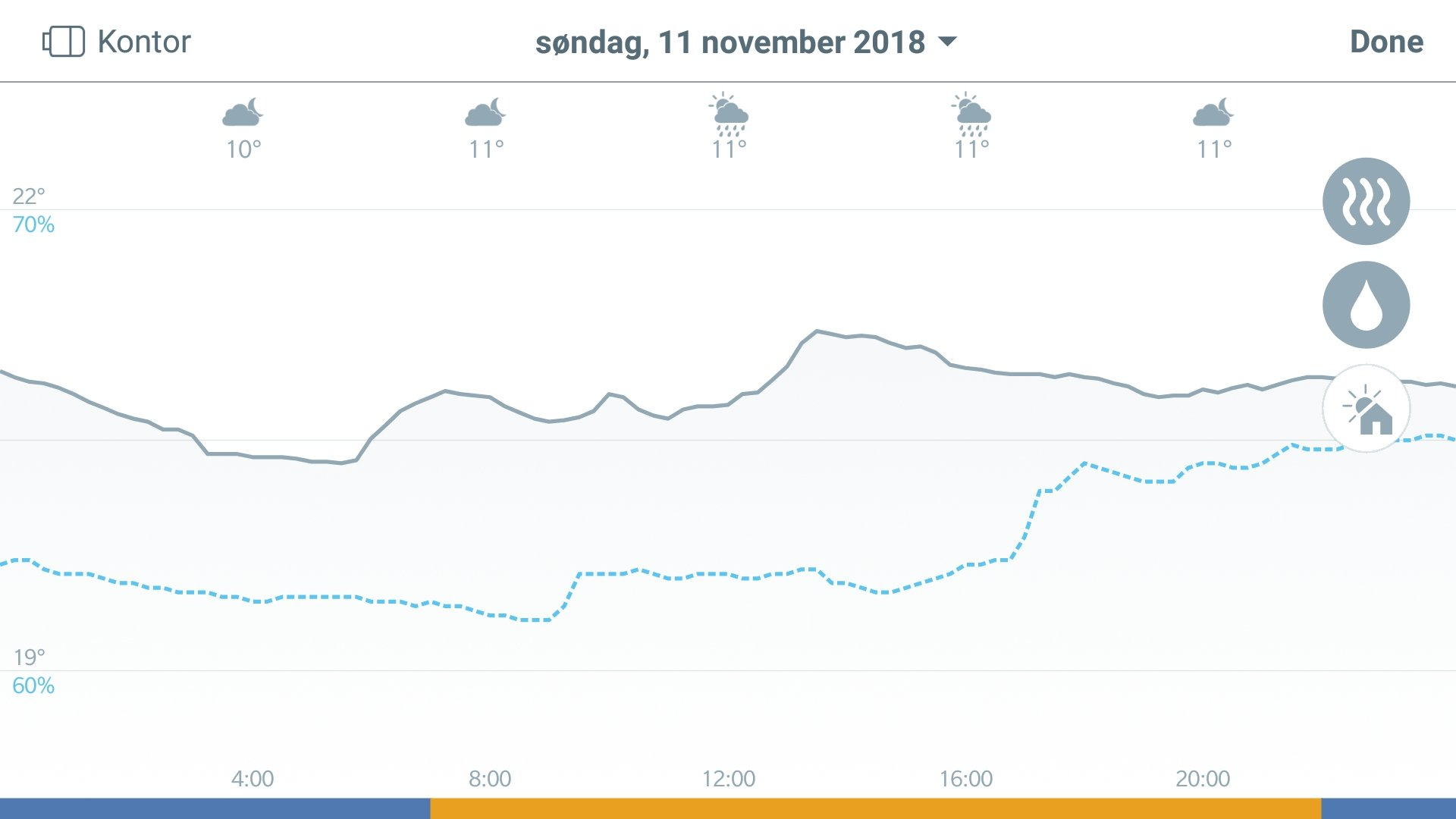 Tado app Screenshot Rapport