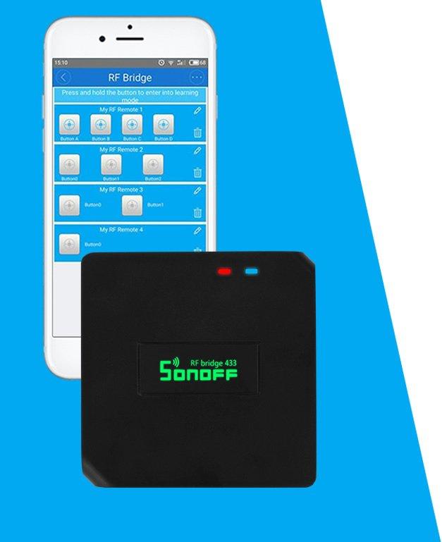 Sonoff RF Bridge 433 MHz Test konklusion