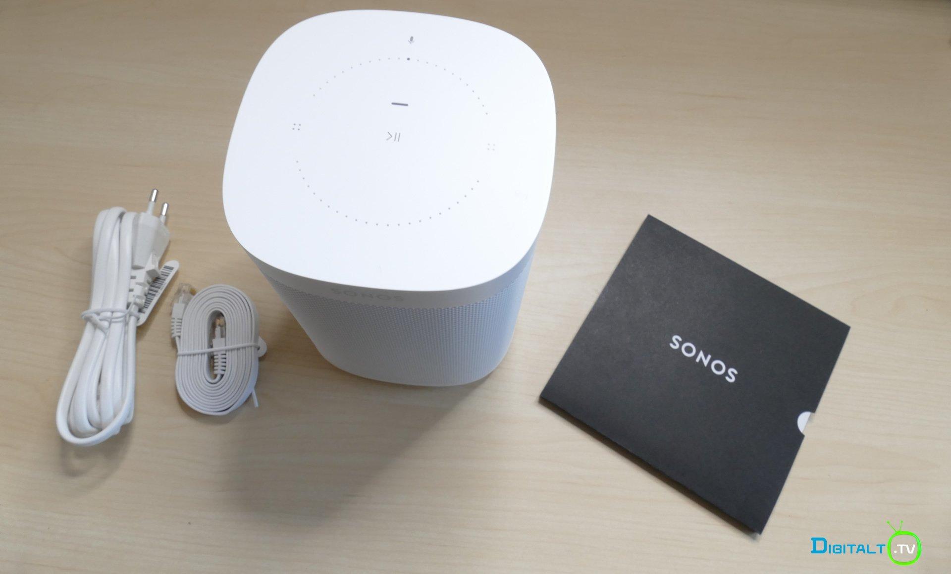 Sonos One med i kassen