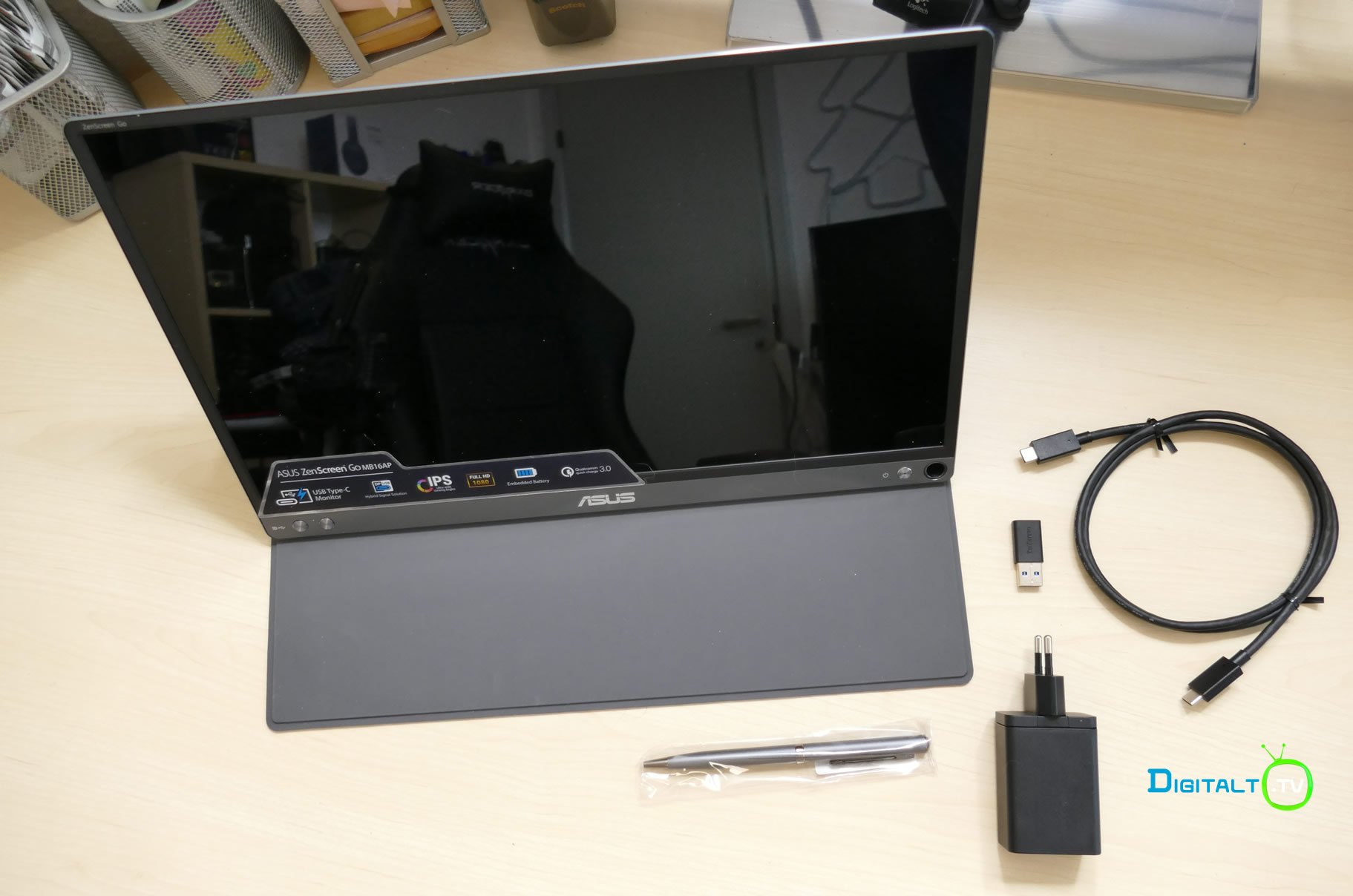 ASUS ZenScreen Go MB16AP med i kassen