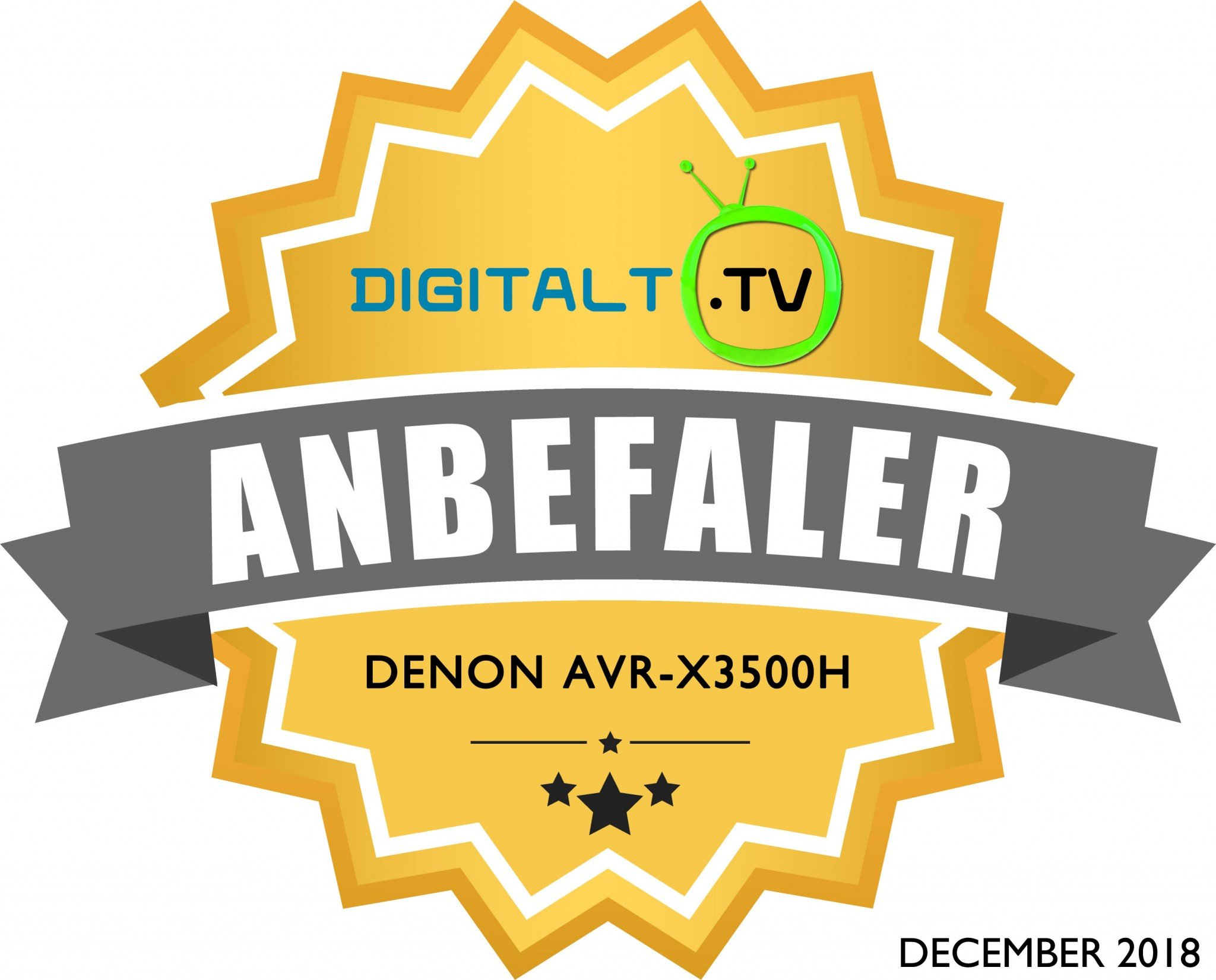 Denon AVR X3500H Logo anbefaling