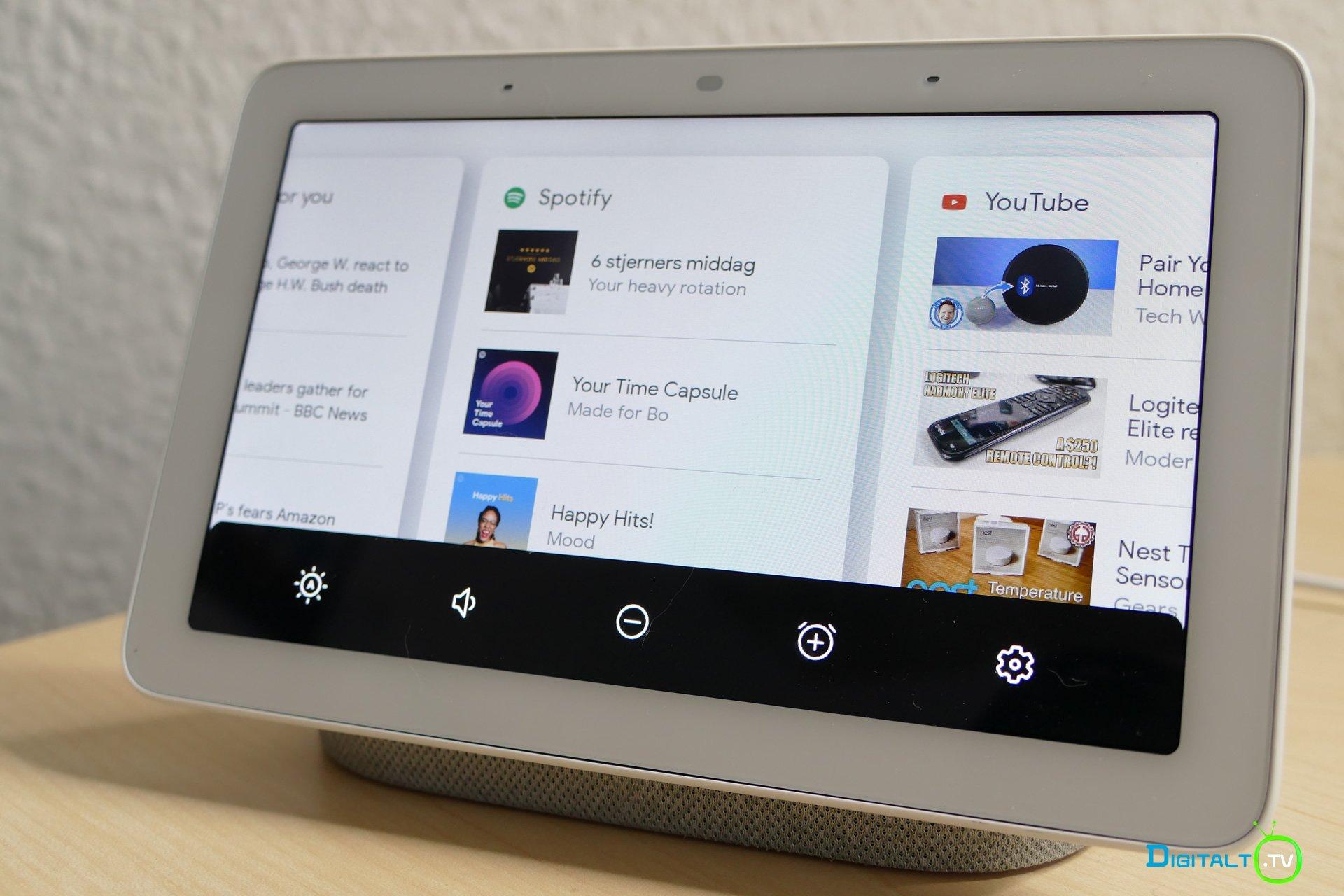 Google Home Hub bund menu