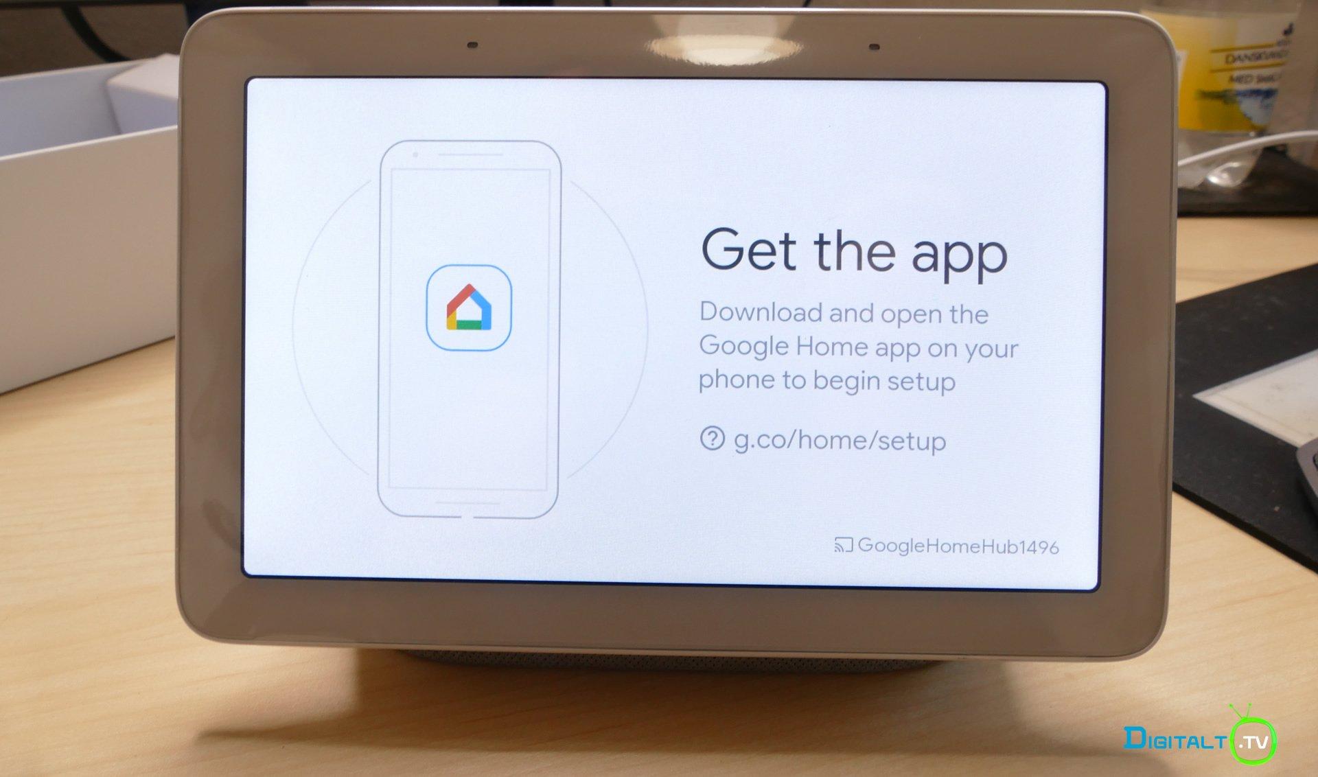 Google Home Hub install 1