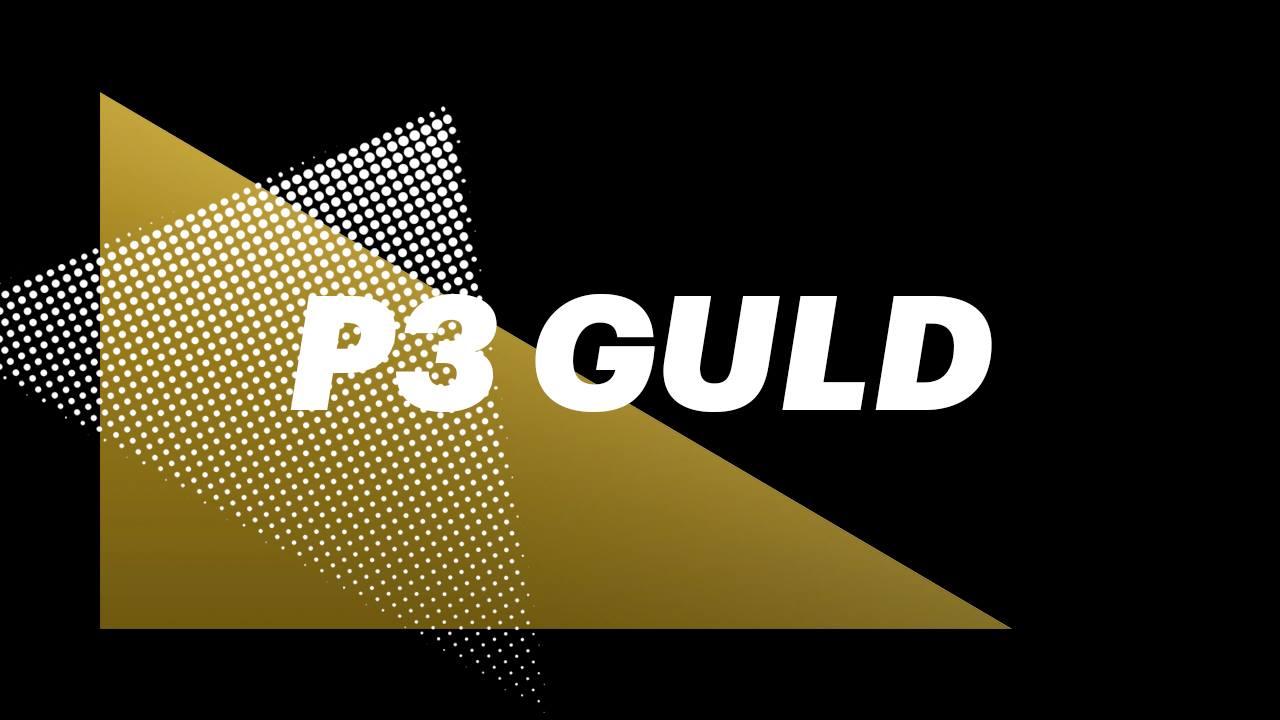 P3 Guld prisen på DR1