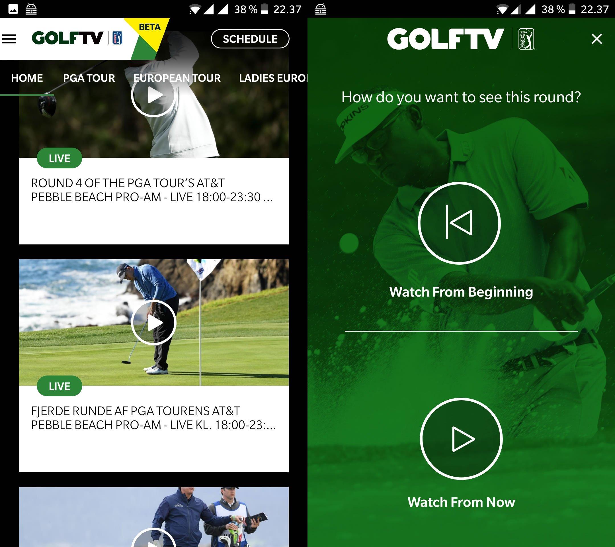 golftv app