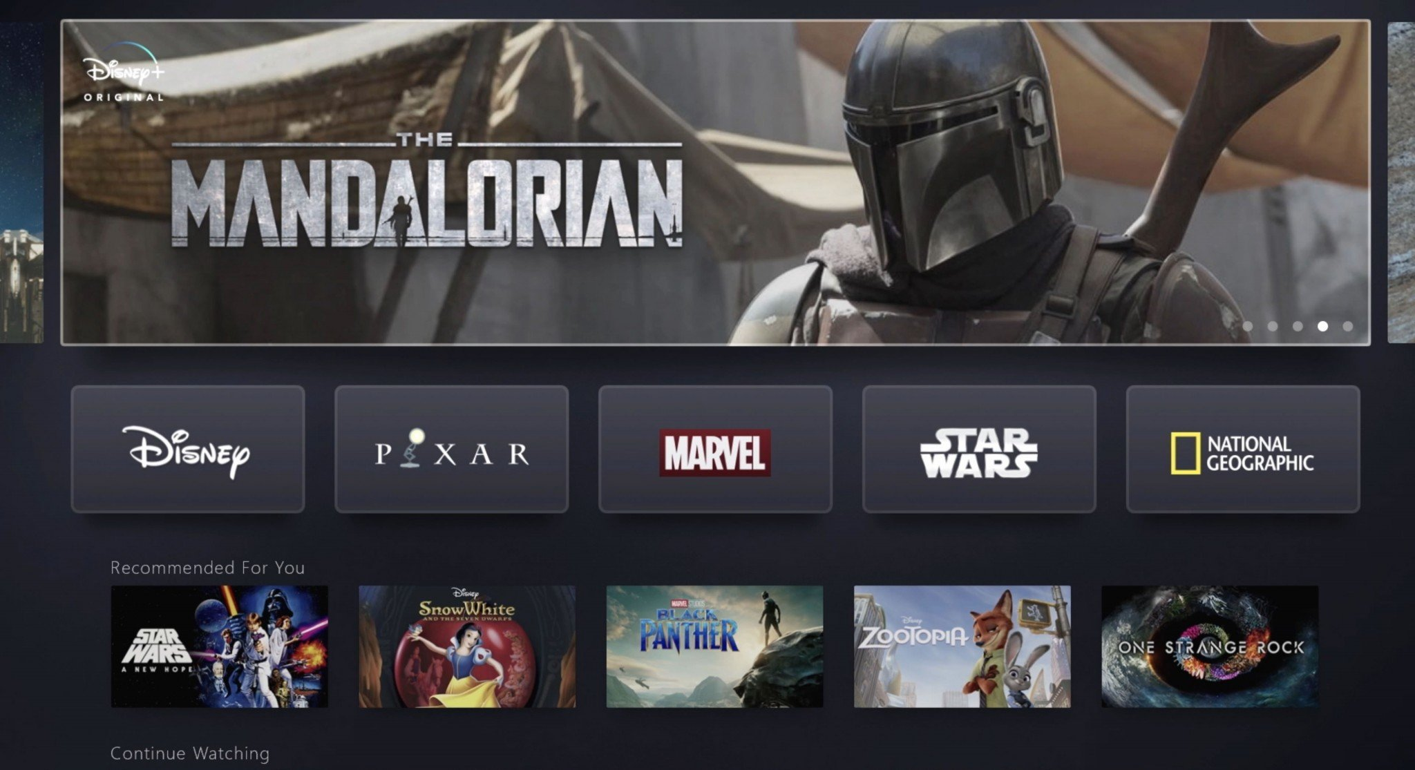 Disney+ screenshot