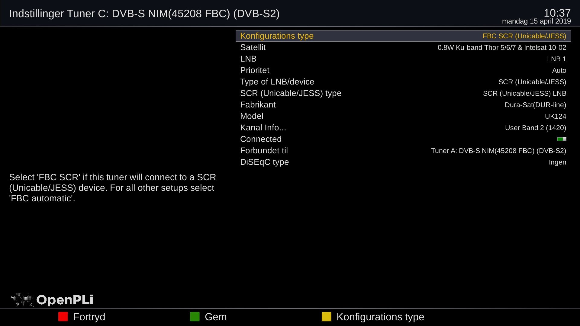 Lunix 3 4K FBC tuner setup
