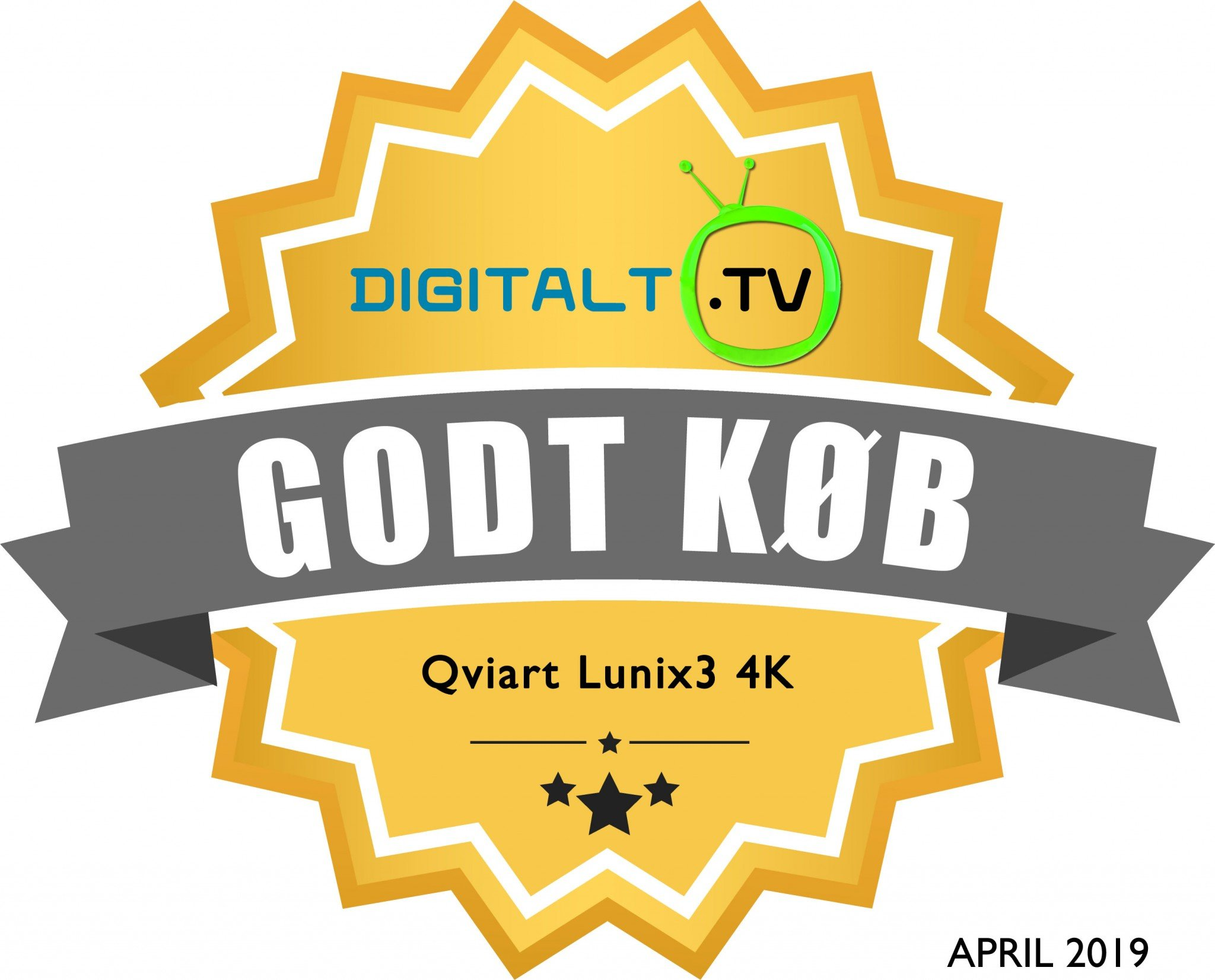 Qviart Lunix3 4K Logo anbefaling
