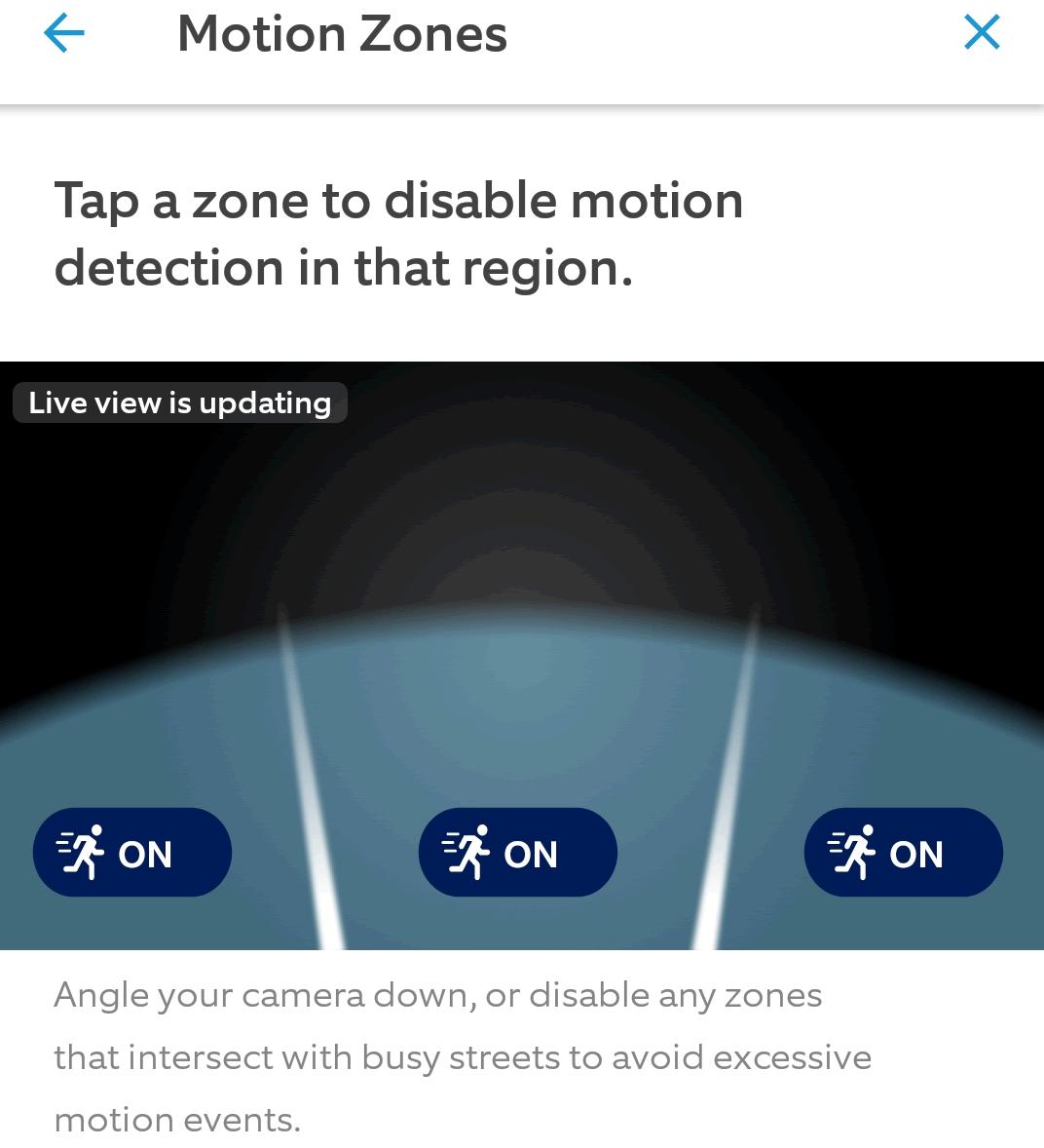 Ring Motion zone screenshot