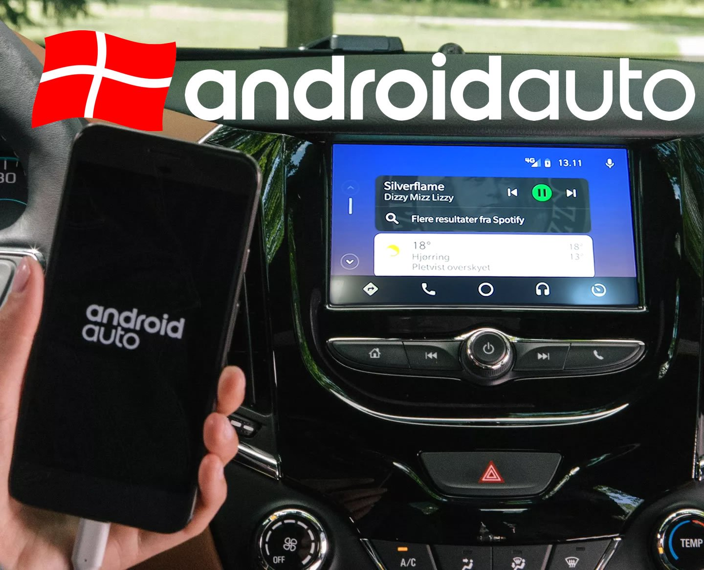 Android Auto Danmark Test