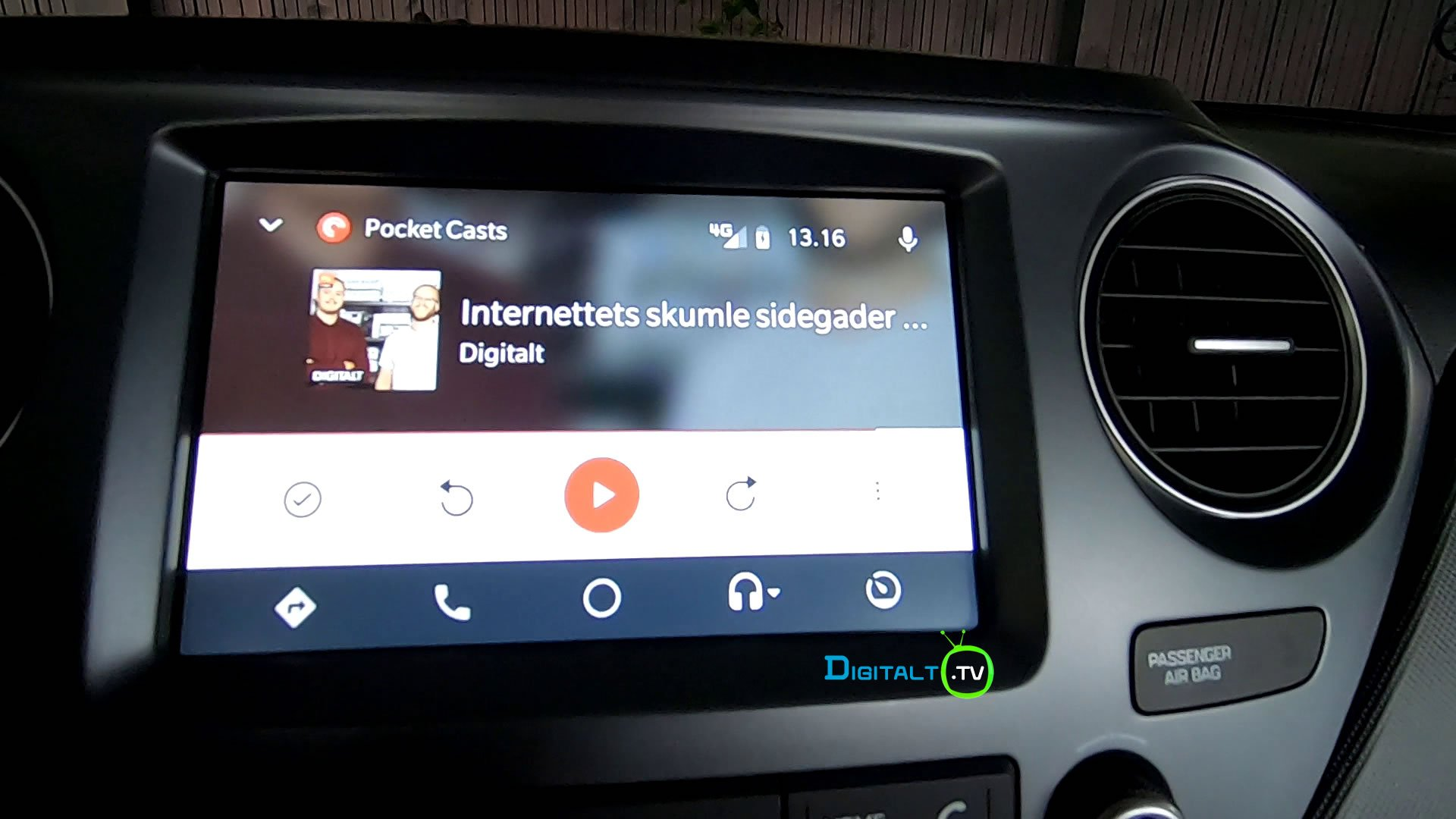 Android Auto Podcast app