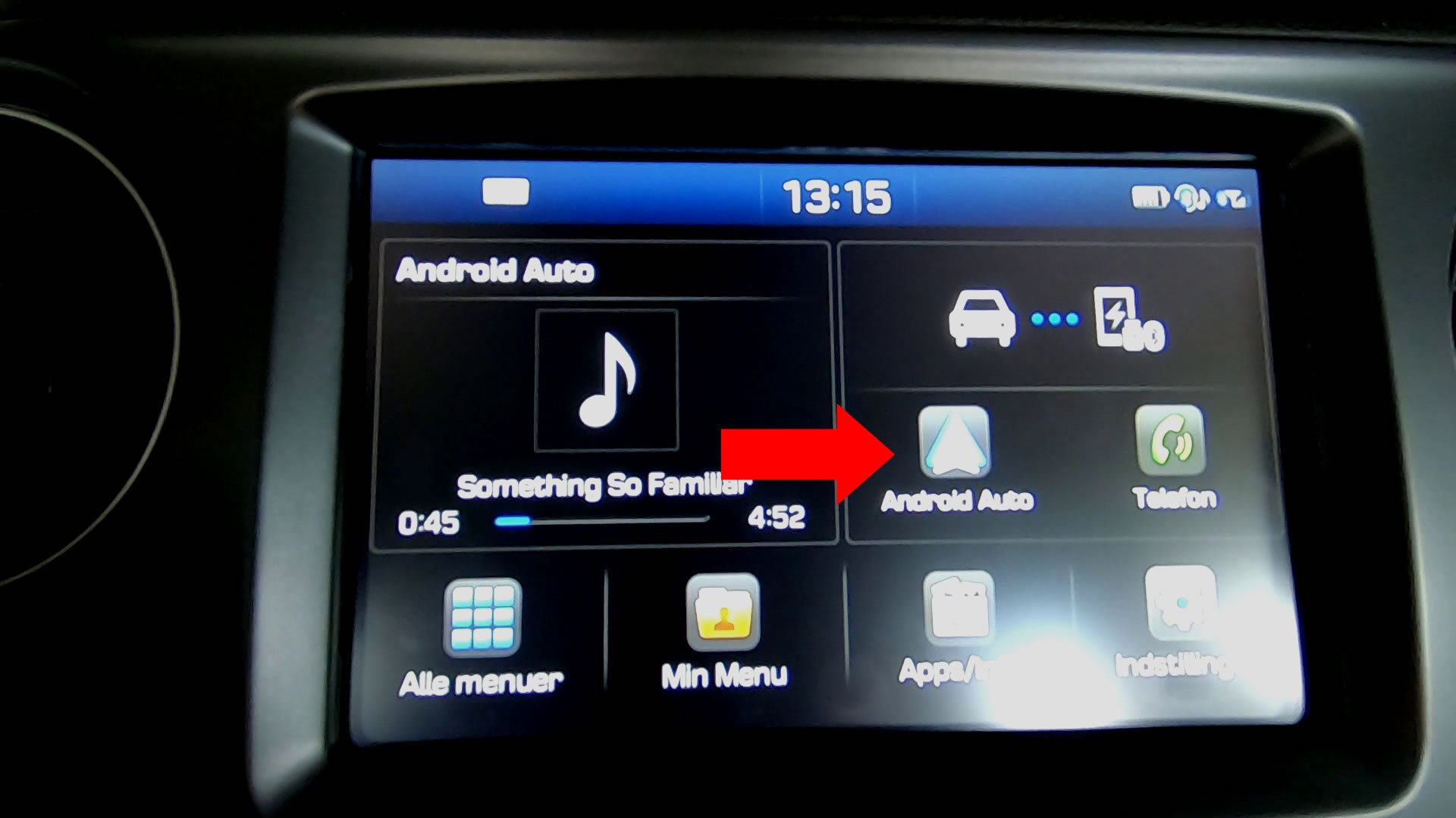 Android Auto app launch